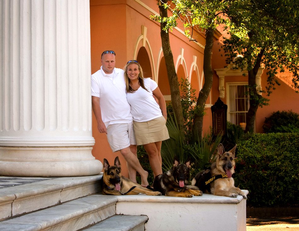 Couple-with-their-dogs