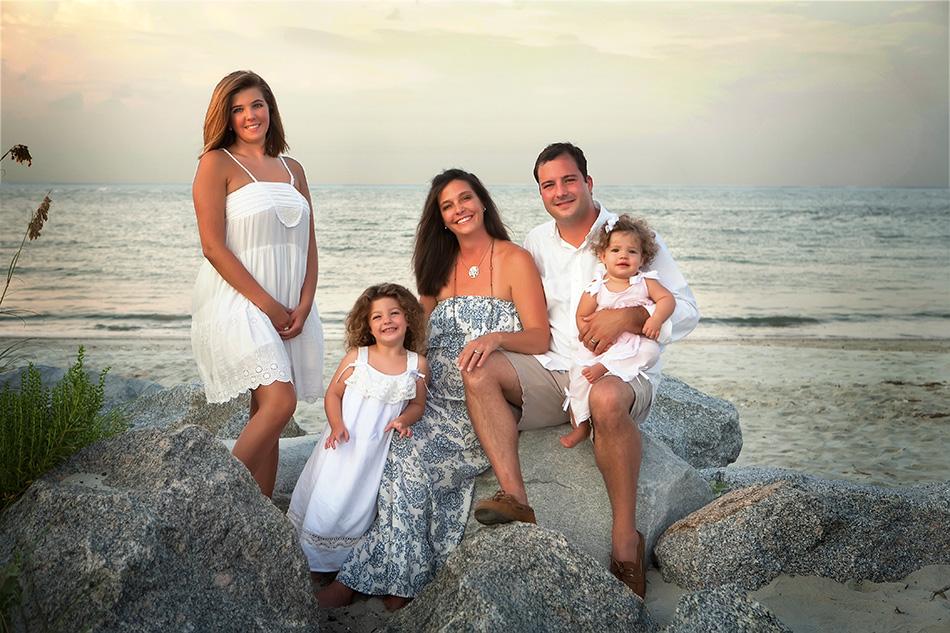 Family-on-rocks