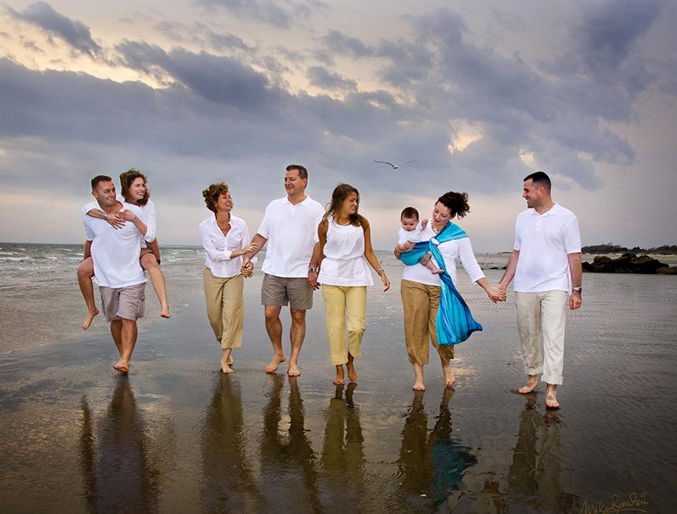 Stormy-beach-family
