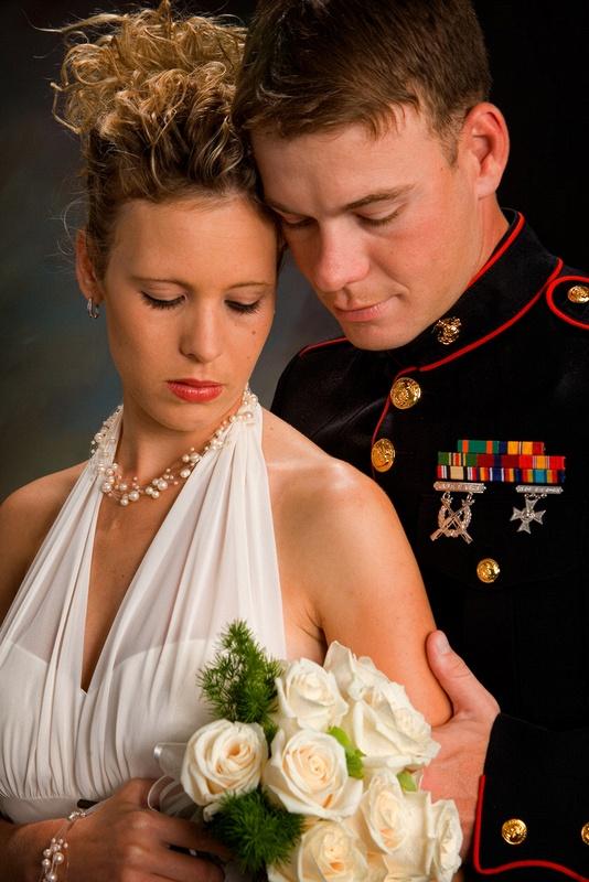 Marine-bride-and-groom
